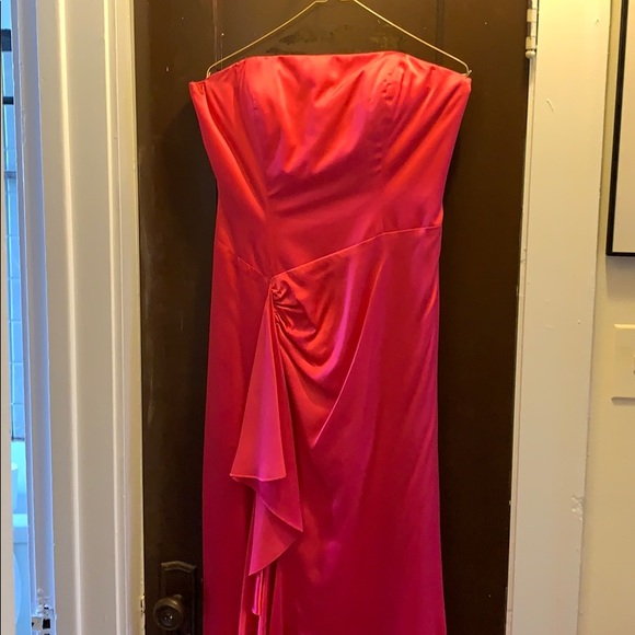 Tiffany Designs Dresses & Skirts - Hot pink, strapless, formal dress with shawl.